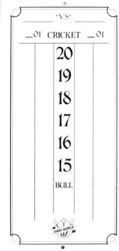 Dart World Mini Dry Erase Scoreboard