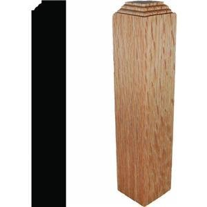 Solid Red Oak Outside Corner (Oak Base Moulding)