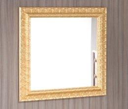 Specchio Specchiera Bagno moderno da 80x80 con bordo in legno dorato ...