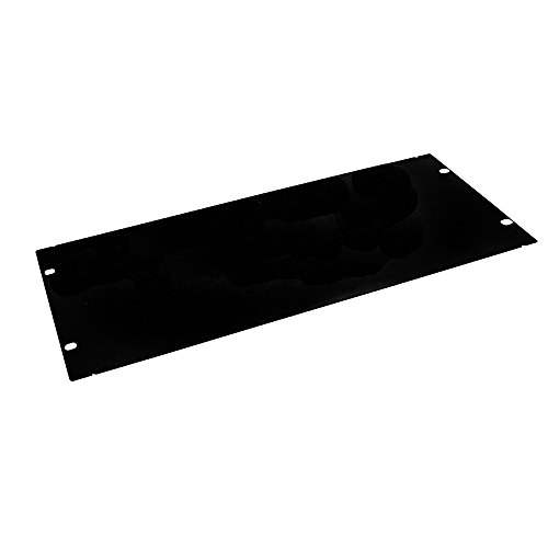 EdgeNet R04BP 4U Rackmount Blank Filler Panel for IT Racks and Cabinets, Solid Black, 19'' by EdgeNet