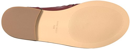 Dark Sandals Nine West Women's Red OKETA Fashion dqXIXzwx
