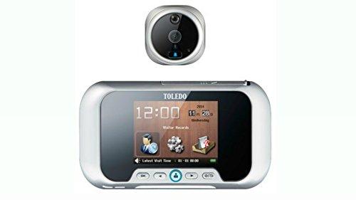 TOLEDO Electronic Peephole Door Viewer Door Bell TR01PS LCD Monitor Picture Video Recording