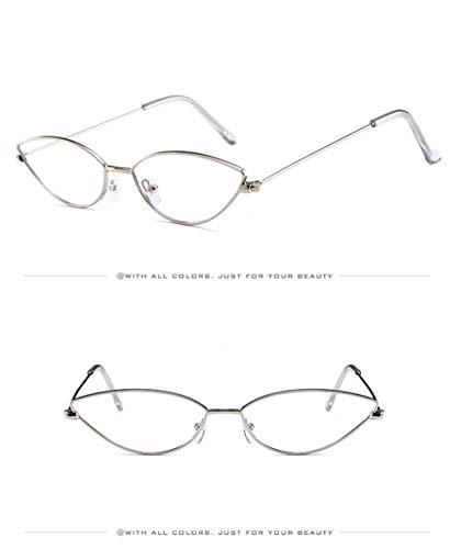 Blanco Cat Lente Retro Gafas Eye Gafas de Ligero Sol Mujer Estuche Sol de Espejo A Sol UV400 de Gafas Unisex Súper Gafas Vintage Hombre Polarizadas para Fliegend P1Azxx