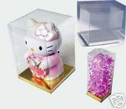 Clear Pvc Box - 24 PCS 5x5x7 Party Favor Tuck Top Clear PVC Plastic Box W/ Silver Card Bottom