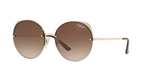 Vogue Women's Metal Woman Round Sunglasses, Pale Gold, 55 - Glasses Vogue
