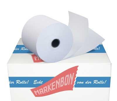 100 Olivetti Summa 32 Normalpapier Bonrollen 57 65 25m-12. Kassenrollen holzfrei 57mmx25lfm original markenbon