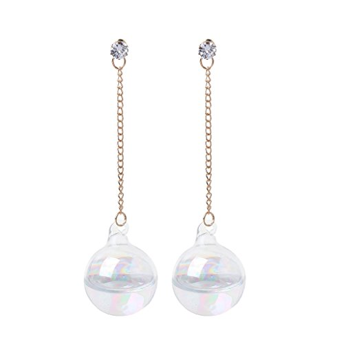 Bubble Style Earrings - Kofun Earrings, Shiny Ab Transparent Bubble Ball Glass Water Inside Drop Earrings for Women Colorful Ball A