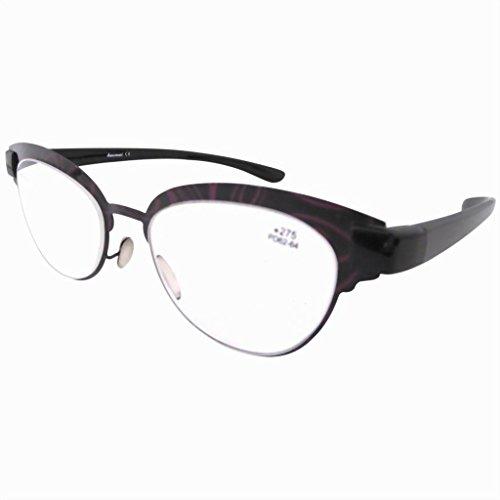 Eyekepper Lunettes de Lecture au boulot / aux loisirs oeil de chat - Poids Leger Retro femme +3.00 Violet-noir