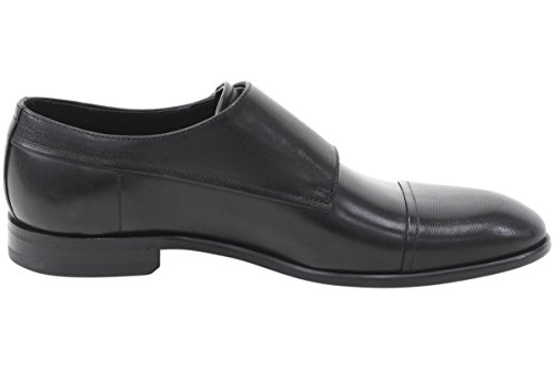Hugo Boss Dressapp_monk_mxprpf Zwart Lederen Monk Strap Loafers Schoenen Sz: 10