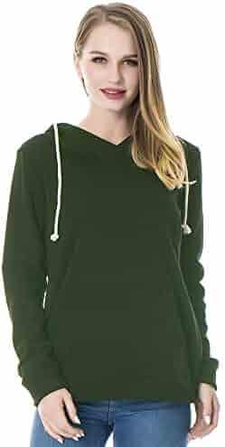 1cd58cf0eaaf1 Smallshow Women's Fleece Maternity Nursing Sweatshirt Hoodie with Kangaroo  Pocket