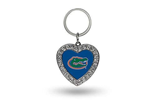 Rico NCAA Florida Gators Rhinestone Heart Keychain ()