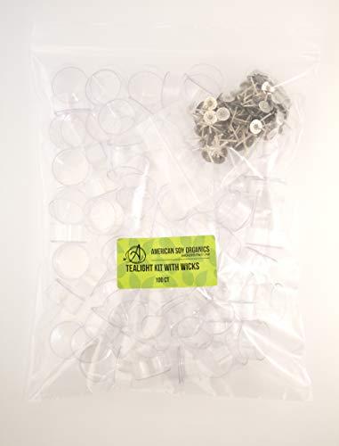 Polycarbonate Tealight Kit with Wicks (100)