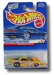 (2000 - Mattel / Hot Wheels - Pro Stock Firebird (Yellow) - 2000 First Editions #4 of 36 Cars - 1:64 Scale Die Cast Metal - MOC - Limited Edition - Collectible)