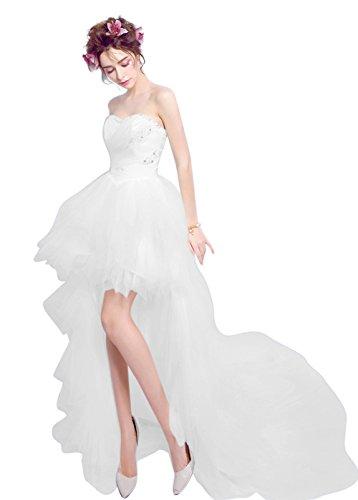 Mujer Trapecio Vestido Vimans Blanco Para q6znA