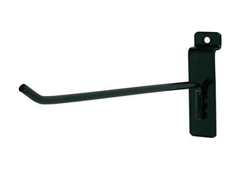8 inch Black Peg Hook for Slatwall - Pack of 25 by SSW Basics LLC