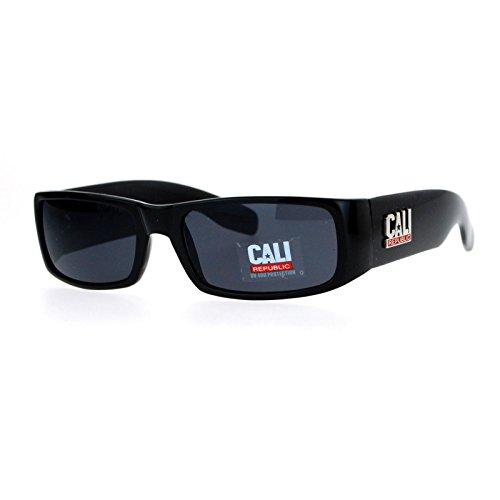 All Black Cali Republic Cholo Gangster Classic Rectangular ()