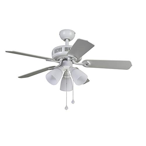 Harbor Breeze Barnstaple Bay 42-in White Indoor Ceiling Fan with Light Kit
