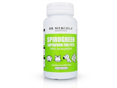 SpiruGreen Superfood for Pets with Astaxanthin by Mercola – 180 Tablets, My Pet Supplies