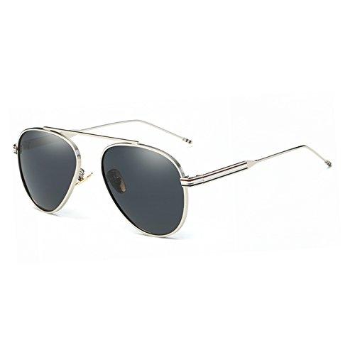 Aviador Accesorios Pynxn C1 de Sol Rayos Hielo Espejo Gafas de C4 Azul polarizadas Mujer Hombre Gris UV400 Sol de Oro Marco del AT9010 wqIrxaq