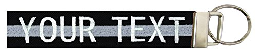 - Northern Safari Custom Name Tape Material Luggage and Crate Tags Over 50 Fabrics! Made in The USA, Black Fabric/Silver Line, 6