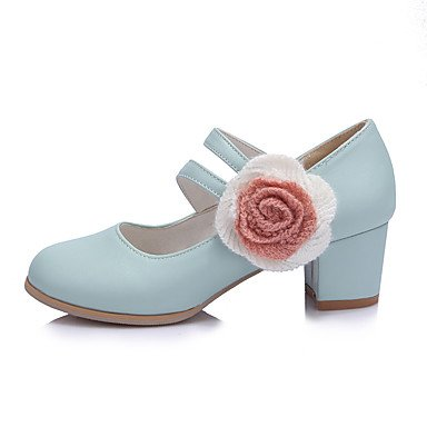 amp; GGX Festivität Hochzeit Kleid Mikrofaser Frühling Polyurethan cn40 High Pumps Blue us8 Sommer LvYuan uk6 Damen 5 Party Heels Pumps 5 PU Künstliche Applikation eu39 6Zqfdw