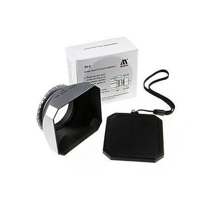Silver Mennon DV-s 27 Screw Mount 27mm Digital Video Camcorder Lens Hood with Cap