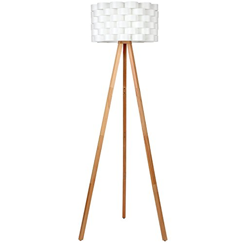 brightech bijou tripod floor lamp design for modern living rooms soft ambient lighting made with natural wood natural color wood