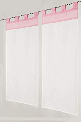 Linder - Acristalamiento con Patas (60% poliéster, 40% algodón, 70 x 160 cm), Color Rosa: Amazon.es: Hogar