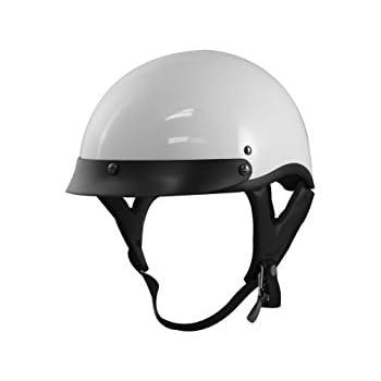 VCAN V531 Half Helmet (Solid White, Large)