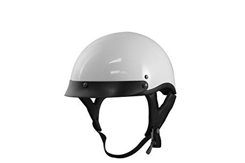 VCAN V531 Half Helmet (Solid White, Medium) (Helmet White Half)