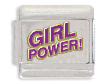 Girl Power Italian Charm Bracelet Link