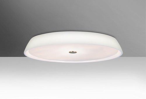 Besa Flush Light (Besa Lighting SOPHI1407C Sophi 14 - Two Light Flush Mount, Opal Finish )