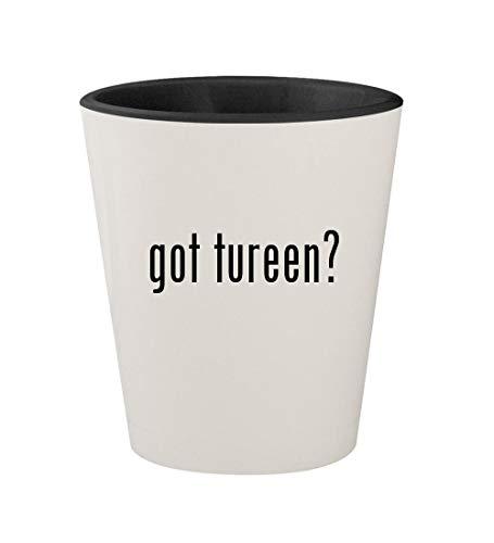 got tureen? - Ceramic White Outer & Black Inner 1.5oz Shot Glass (Pewter Soup Tureen)