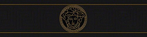 Versace border - material: vinyl on non-woven material - colour: black, gold - article no. - Versace Colors