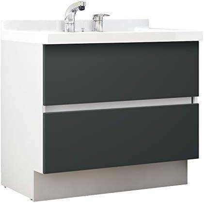 イナックス(INAX) 洗面化粧台 J1プラスシリーズ 幅90cm フルスライドタイプ シングルレバーシャワー水栓 J1FHT905SYYD2H 一般地用 ウェンゲチャコール(YD2H)