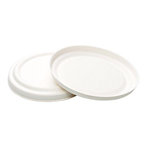 Bagasse Soup Cup Lid - Collezione Pulpa Soup Cup Lids - 100ct Box - (Bagasse Cup)