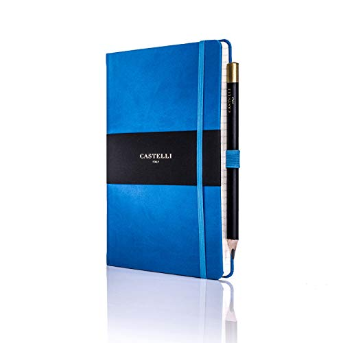 Castelli RQ24/25-914 Medium Lined Ruled Tucson Notebook - French Blue