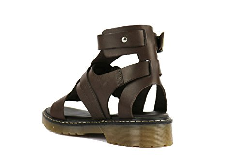 GIOVANI ITALIANI Sandalias mujer cuero negro marrón marrón