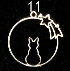 HATCHMATIC 10pcs Kawaii Cats Animal Open Bezels DIY Resin Charms Craft Cute Little Cat Dog Tortoise Pendant Resin Jewelry Accessories: 11 -