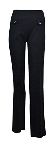Style & Co. Women's Straight-Leg Solid Dress Pants (Ebony Black, - Pants Gabardine Leg Straight