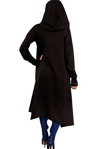 Knight Horse Womens Asymmetric Hem Long Sleeve Loose Casaul Hoodies Sweatshirts Tunic Tops