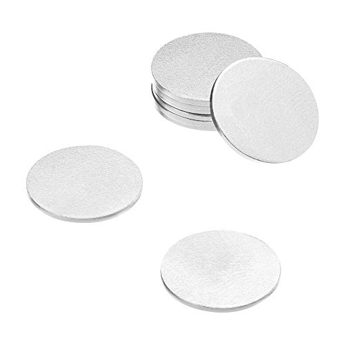 totalElement 1/2 Inch Steel Discs, Blank Metal Strike Plates (250 Pack)