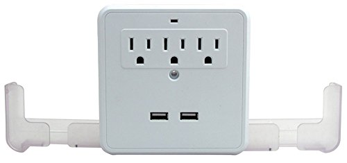 Perfect Life Ideas AC USB Wall Outlet Surge Protector Power
