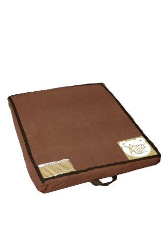 Bear Mat (Tumbl Trak Teddy Bear Mat, Dark Brown Soft Blanket Material Cover with Velcro, 3-Feet Width x 47-Inch Length x 3-Inch Height)
