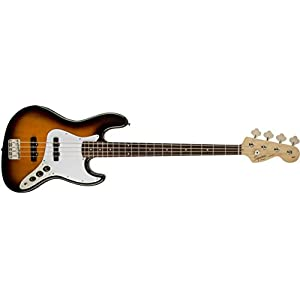 Squier by Fender Affinity Jazz Beginner Electric Bass Guitar - Rosewood Fretboard, Brown Sunburst