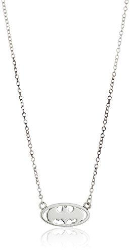 "DC+Comics Products : DC Comics Sterling Silver Batman Logo Necklace, 18"""