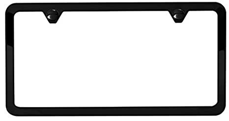 License Plate Holders >> Amazon Com Matte Black License Plate Frame Automotive
