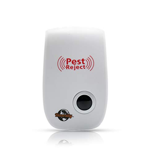 Diversity Inc. Ultrasonic Pest Repeller 4 Pack - Mosquito Repellent, Insect Repellent, Mouse Repellent, Spider Repellent - Great pest Repeller with Great pest Control!