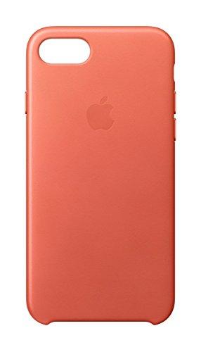 Apple MQ5F2ZM/A Leder Schutzhülle für Apple iPhone 7 geranie