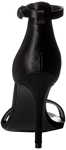 Nine Sandal West Satin Mimosina Women's Black 4wOqaZ4z